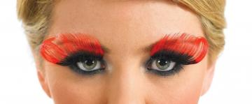 Red and Black Curl Eyelashes